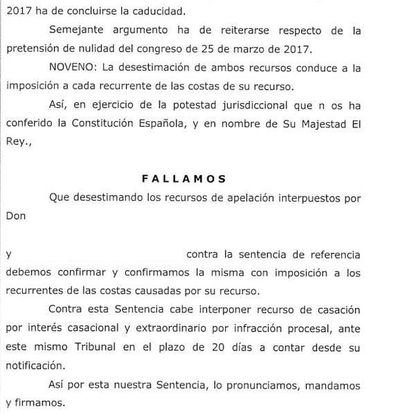 Rechazados los recursos contra el congreso del PP que dio la victoria a María José Sáez de Buruaga