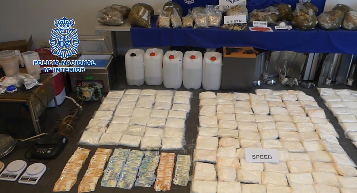 La Policía Nacional decomisa cientos de kilos de drogas sintéticas en el Norte de España