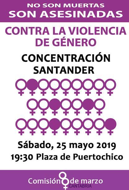 """La Comisión 8 de Marzo traslada este sábado su concentración de los """"Los 25 de cada mes"""" a la Plaza de Puertochico"""