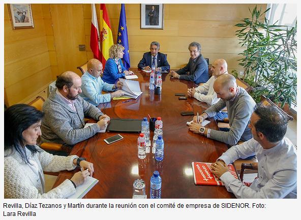 El Gobierno condiciona la salida de SODERCAN de SIDENOR a la validación del plan industrial para la planta de Reinosa