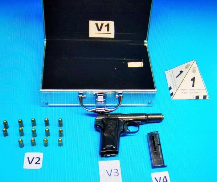 La Policía Nacional detiene al autor de un delito de malos tratos y tenencia ilícita de armas