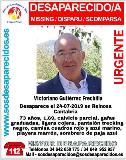 Alertan de la desaparición de un hombre en Reinosa