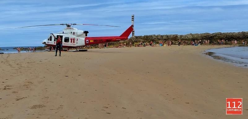 Fallece un hombre de 52 años en la playa de Amio, en Pechón