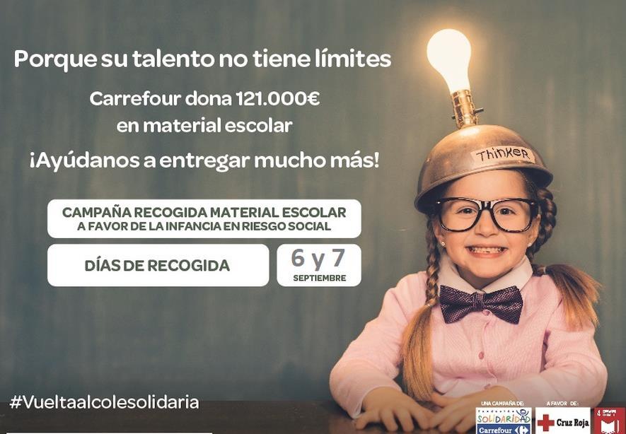 Cruz Roja y Carrefour ponen en marcha la 'Vuelta al Cole Solidaria' a favor de la infancia en riesgo social de Cantabria