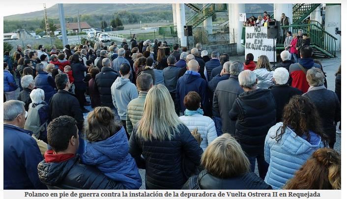 Requejada acogió en marzo una concentración contra la ubicación de Vuelta Ostrera II