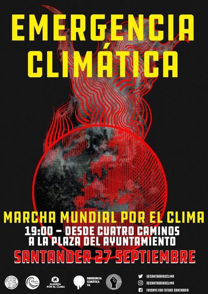 Cantabria se suma a la movilización internacional por el clima