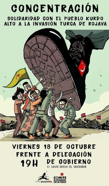 Convocada una concentración en solidaridad con Rojava y el Kurdistán