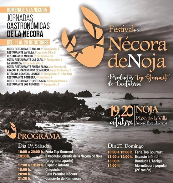 Arranca este sábado el VIII Festival de la Nécora de Noja, con 'Poty' como Embajador y Premio Nécora 2019