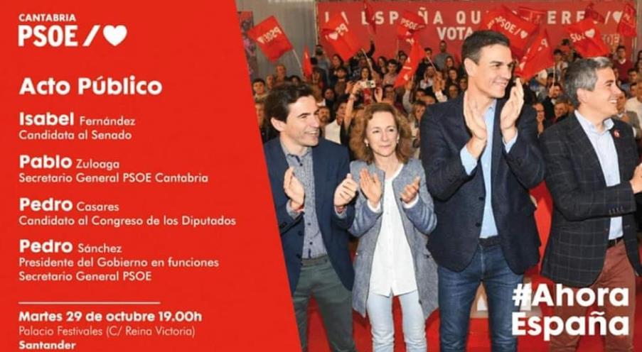 Pedro Sánchez visita Cantabria este martes