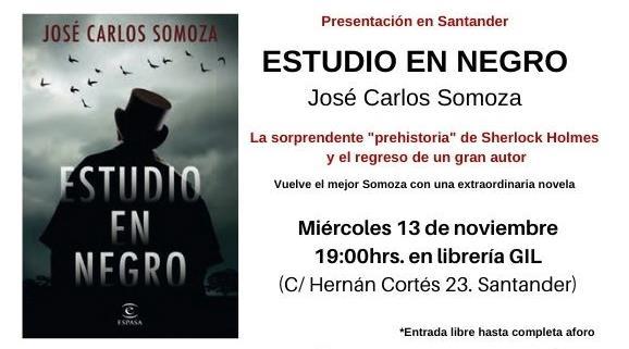 """José Carlos Somoza presentará en Santander su novela """"Estudio en negro"""""""