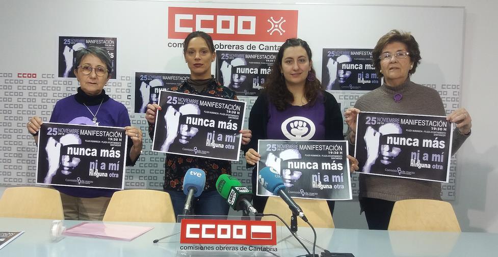 La Comisión 8 de Marzo anima a secundar este 25 de noviembre la manifestación en Santander contra la violencia de género