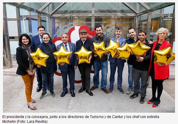 Revilla y Lombó reciben a los chefs cántabros con estrella Michelin
