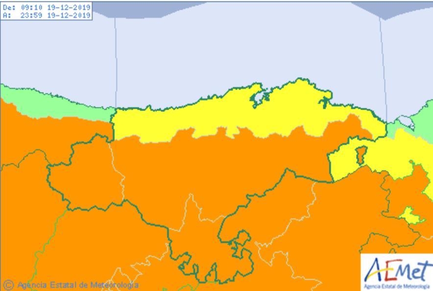 Se amplía el aviso naranja por viento y el aviso amarillo por lluvias