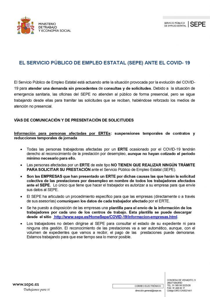 Alerta de fraude: el Gobierno recuerda a los trabajadores sujetos a un ERTE que no tienen que hacer ningún trámite