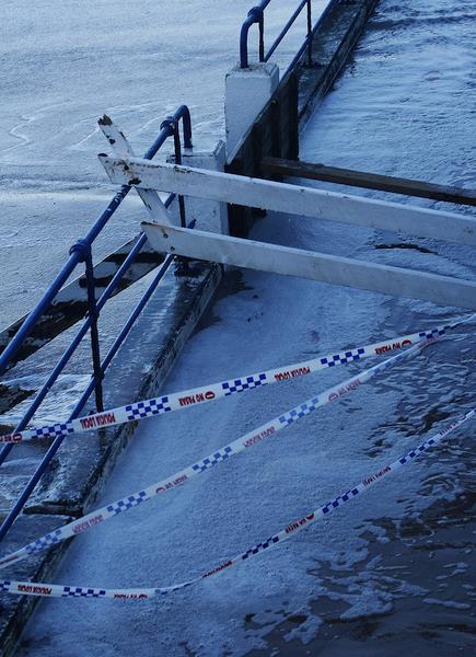 Foto de archivo de un temporal en Santander