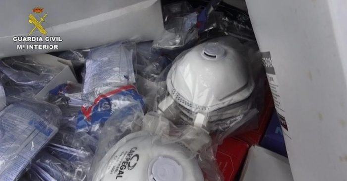 La Guardia Civil frustra el intento de una empresa de subastar más de 1.000 mascarillas