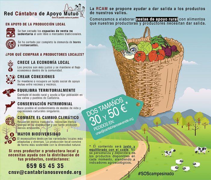 'La Renovera' continuará la actividad de las cestas de apoyo rural iniciada por la Red Cántabra de Apoyo Mutuo