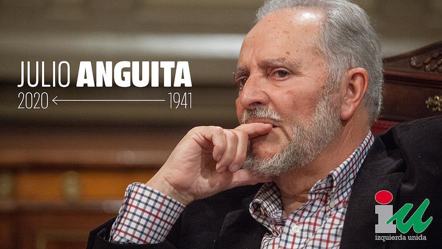 """IU Cantabria despide a Julio Anguita, """"referente de la honradez política"""""""