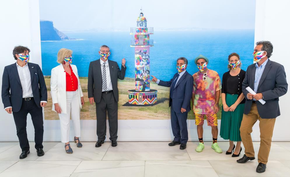 Presentación del proyecto de Okuda para el faro de Ajo. Foto: Raúl Lucio, gobierno de Cantabria