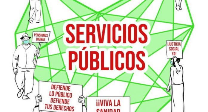 Más de una treintena de organizaciones se movilizan mañana en defensa de los servicios públicos en Santander y Torrelavega