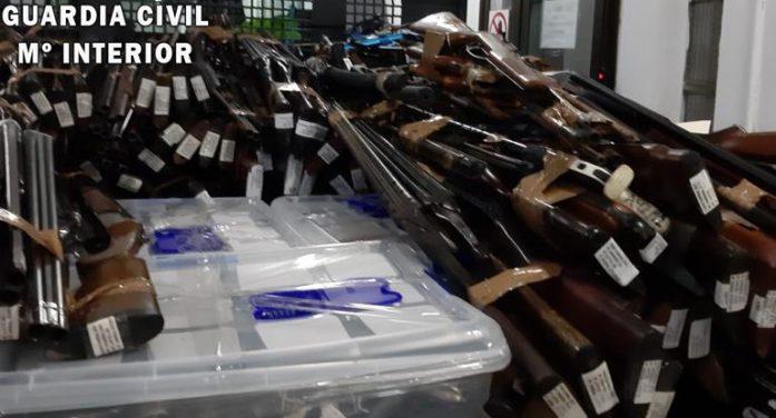 La Guardia Civil de Cantabria ha destruido esta semana más de cuatro toneladas de armas