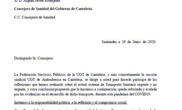 UGT pide recuperar la gestión pública del transporte sanitario en Cantabria y seguir el ejemplo de Islas Baleares
