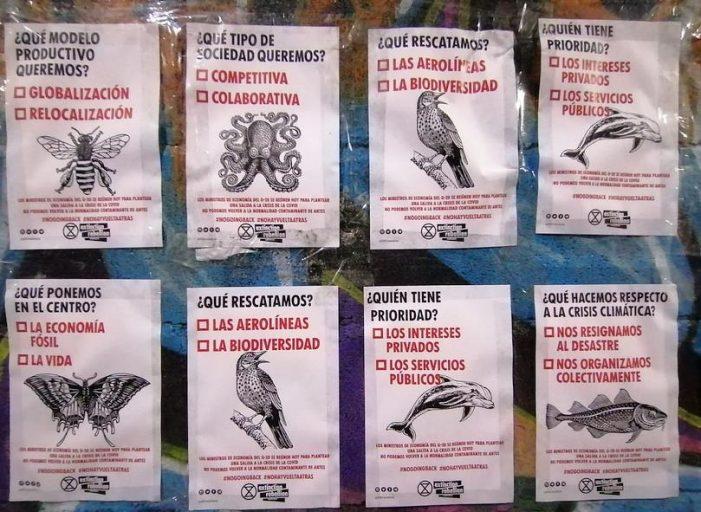 """Extinction Rebellion pide """"no dar marcha atrás"""" en medidas medioambientales"""
