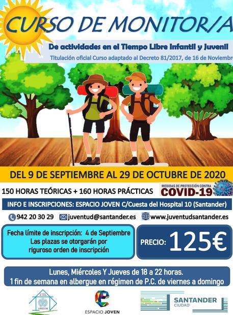 Santander organiza un nuevo curso de monitor de tiempo libre educativo infantil y juvenil