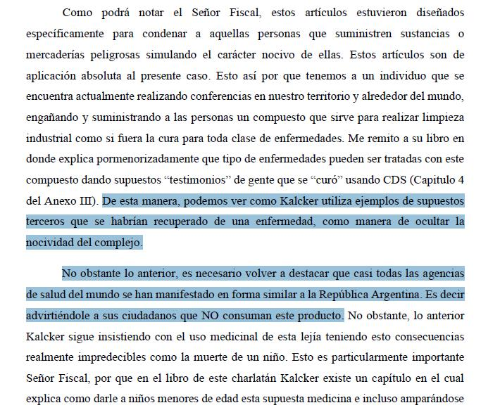 Otra captura de pantalla de la denuncia contra Andreas Kalcker a la que ha tenido acceso CANTABRIA DIARIO