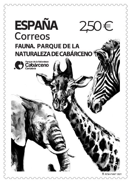 Correos dedica un sello al Parque de la Naturaleza de Cabárceno, con 160.000 ejemplares impresos