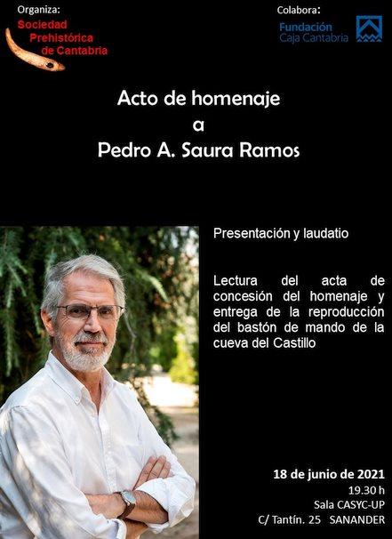 Pedro Saura recibirá el Premio de Honor de la Sociedad Prehistórica de Cantabria