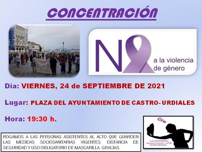 Castro Urdiales acogerá una concentración contra la violencia machista