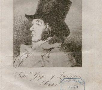 """Imágenes de la primera edición de grabados de los """"Caprichos de Goya"""" encontrados en la Biblioteca Menéndez Pelayo de Santander"""