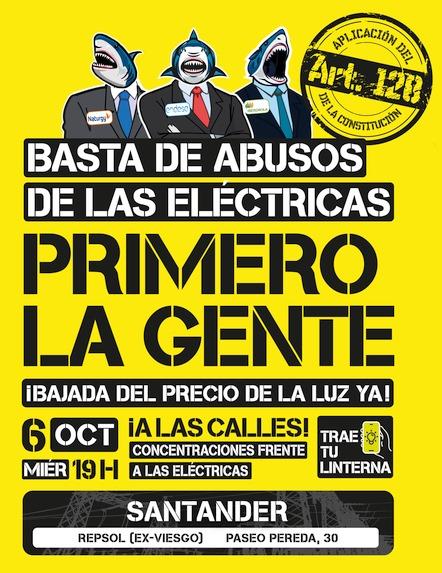 -Este 6 de octubre a las 19.00 horas en Santander, Torrelavega y Castro Urdiales