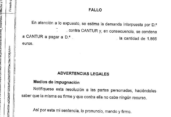 CCOO critica la 'obstinación' de Cantur al seguir obligando a la plantilla a ir a la justicia para demandar un complemento que sí recoge su convenio