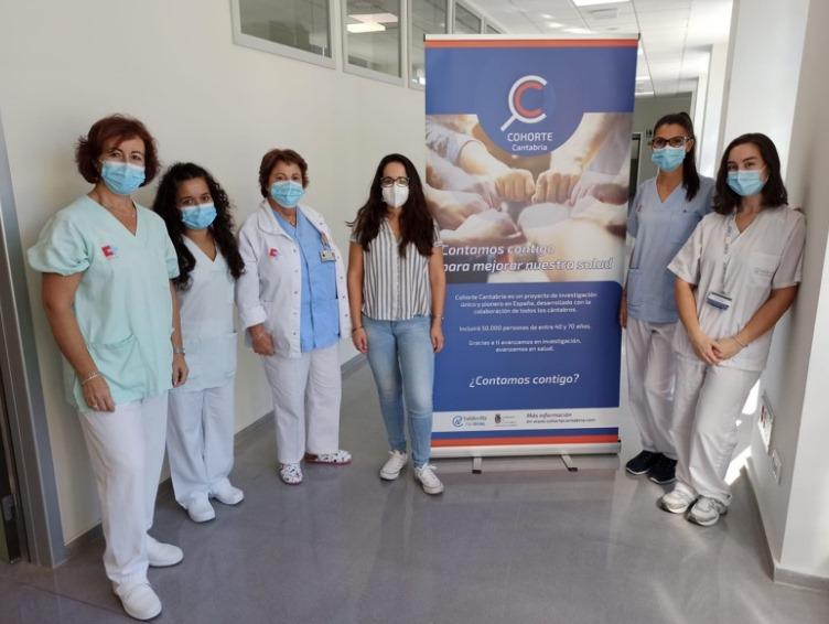 Equipo que lidera el proyecto de investigación 'Cohorte Cantabria' (Foto: Oficina de Comunicación del Gobierno de Cantabria)