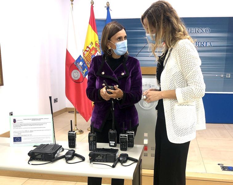 Presidencia destina 140.000 euros a la compra de terminales para la nueva red digital de comunicaciones de emergencias (Foto de Nacho Romero, Gobierno de Cantabria)